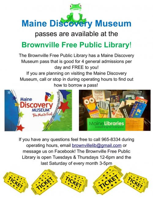 Maine Discovery Museum Pass